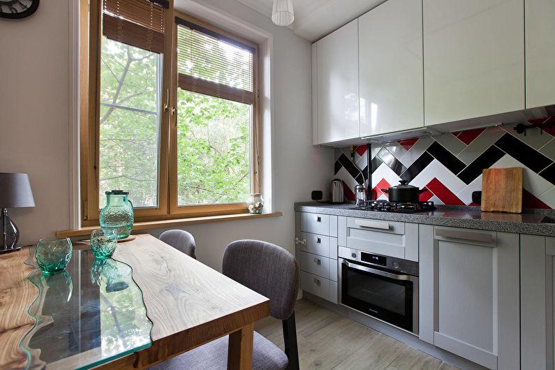 Cuisine 11 m2 dans un style moderne - Design d'intérieur
