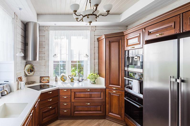 Cuisine 11 m2 dans un style classique - Design d'intérieur
