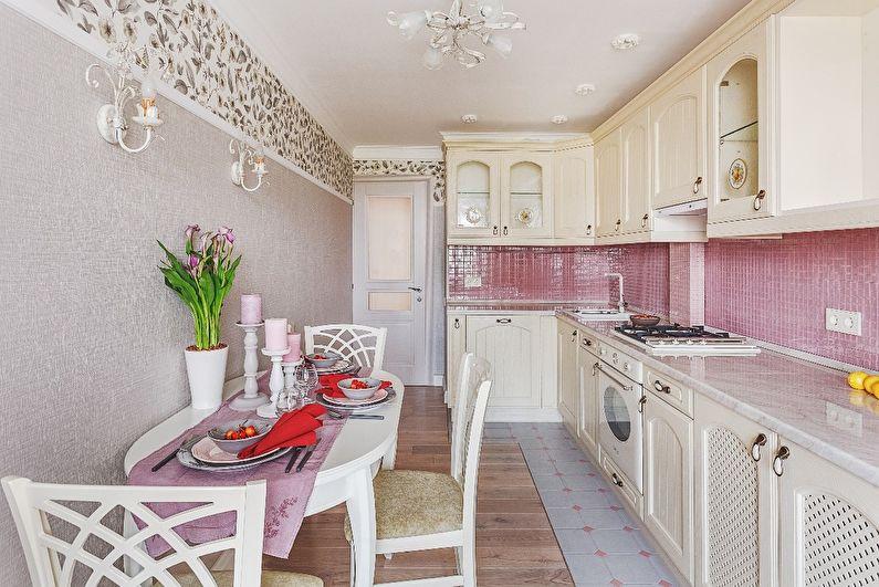 Cuisine 11 m2 dans le style provençal - Design d'intérieur