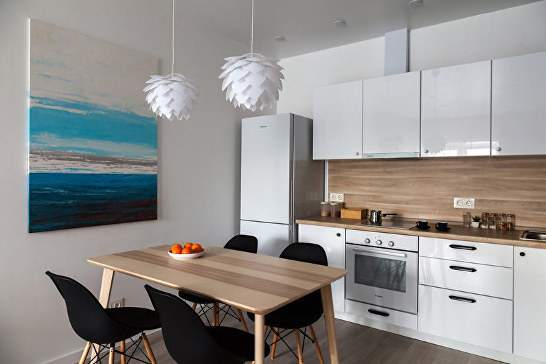 Cuisine 11 m2 en éco-style - Design d'intérieur