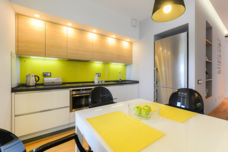 Cuisine jaune 11 m2 - Design d'intérieur