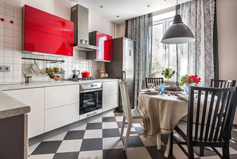 Conception de cuisine 11 m² - finition du sol