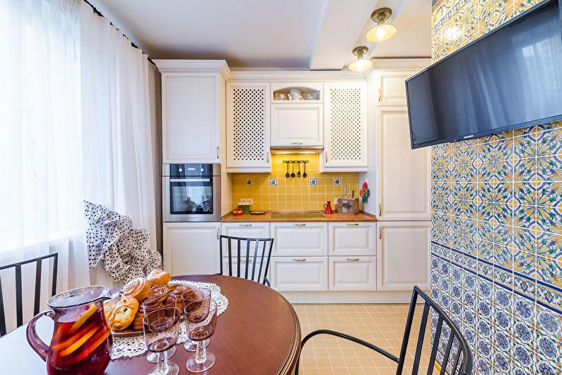 Conception de cuisine 11 m² - décoration murale