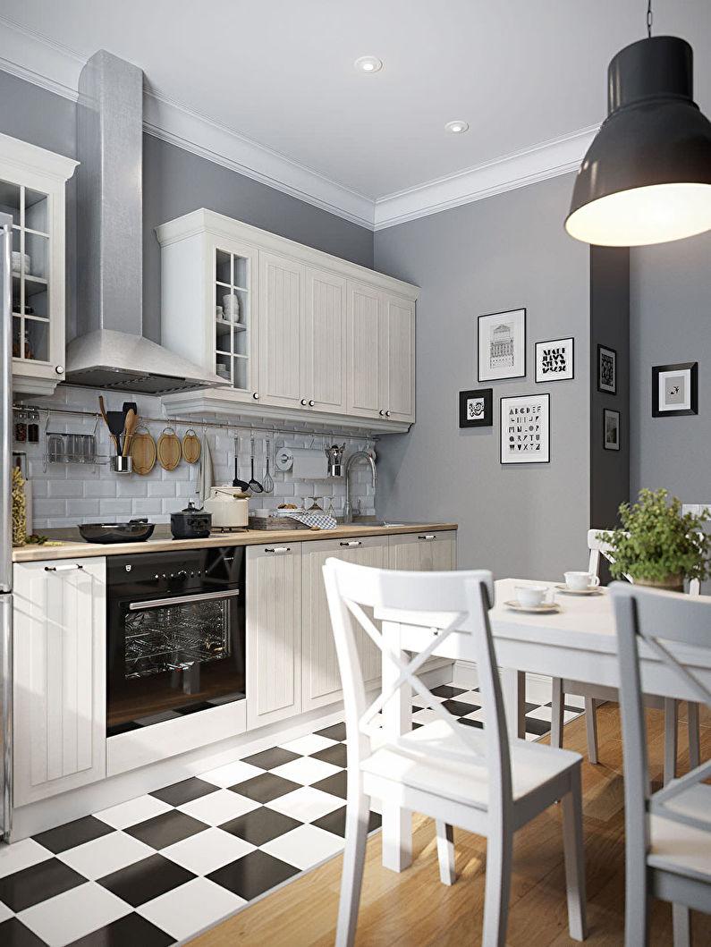 Conception de cuisine 11 m² - décoration de plafond