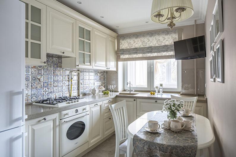 Conception de cuisine 11 m² - Décor et textiles