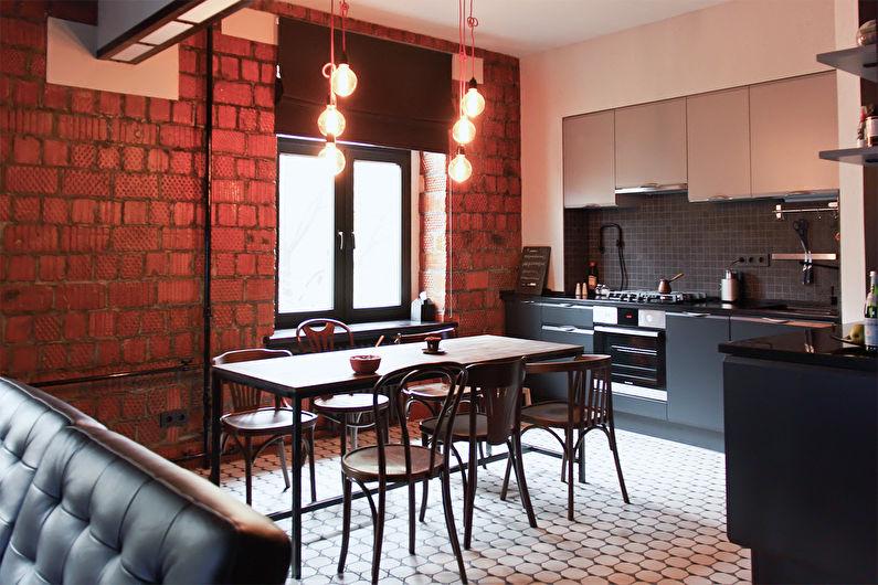 Conception de cuisine 11 m² - Éclairage et rétro-éclairage