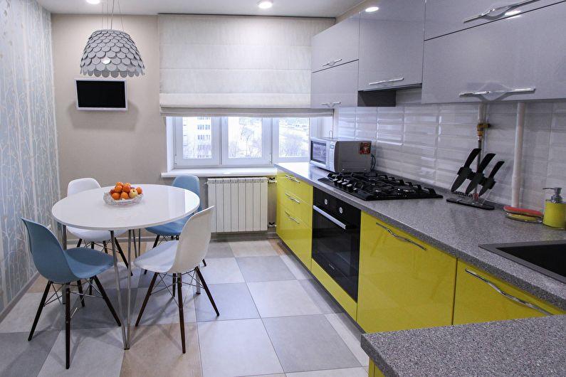 Le design intérieur de la cuisine est de 11 m². - photo