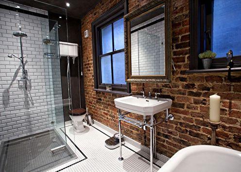 Salle de bain de style loft (+65 photos)