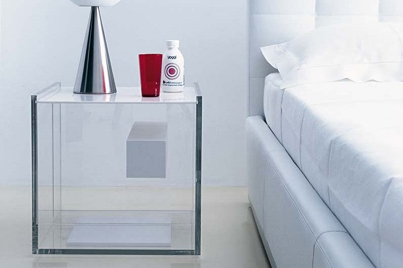Tables de chevet en verre - Matériaux pour la fabrication