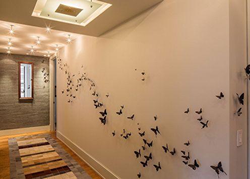 Papillons sur le mur (75 photos): décoration DIY