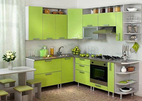 Petite cuisine d'angle (80 photos): idées de design