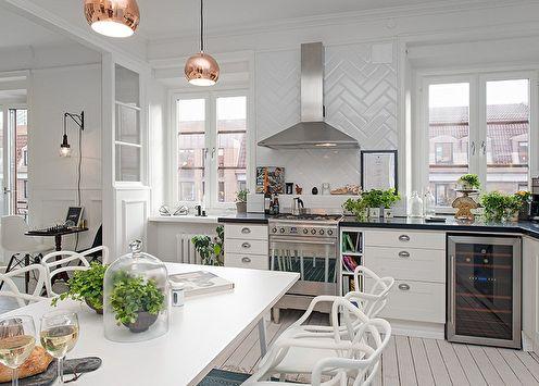 Conception de cuisine dans le style scandinave (80 photos)