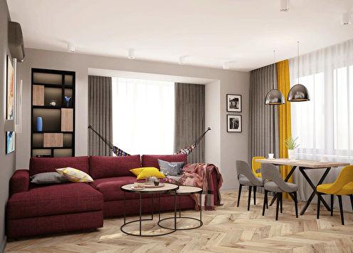 Projet d'aménagement du salon Family Loft