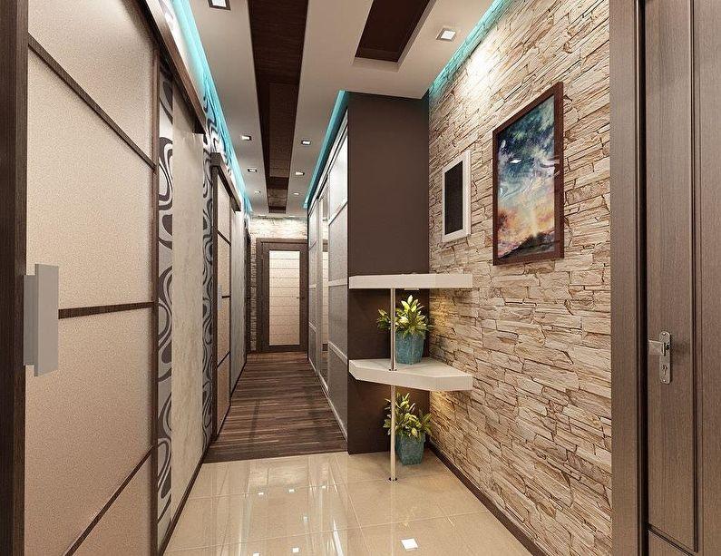 Pierre décorative à l'intérieur du couloir et du couloir - photo
