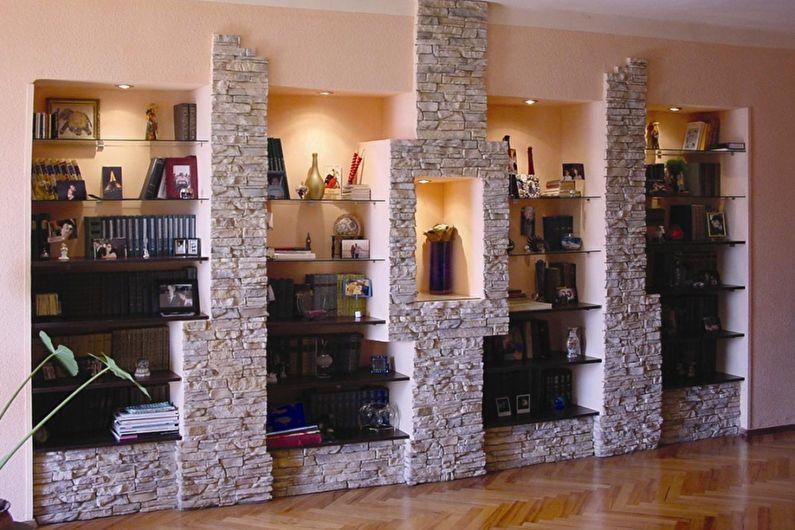 Décoration de niche avec pierre décorative - photo