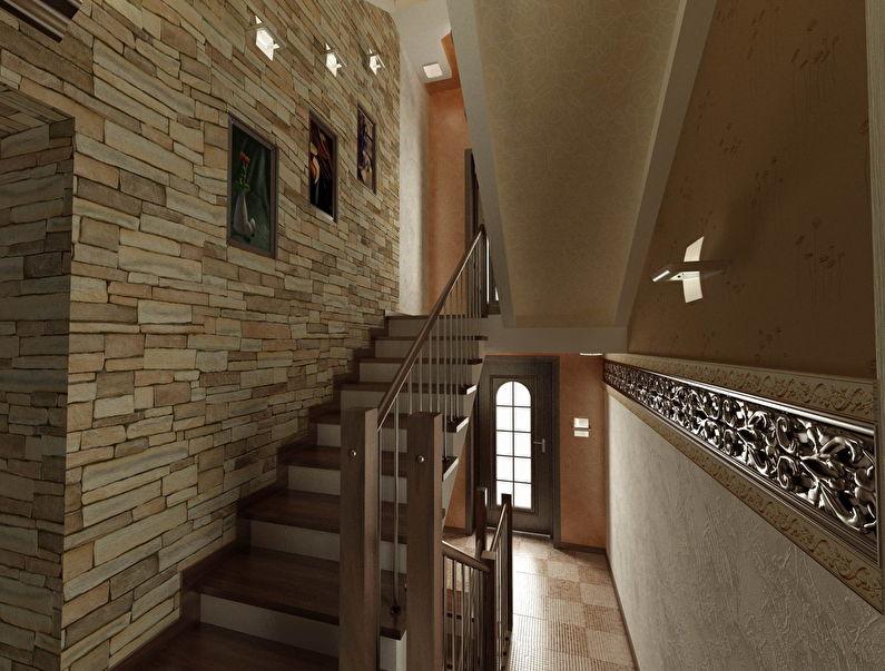 Décoration d'escalier avec pierre décorative - photo