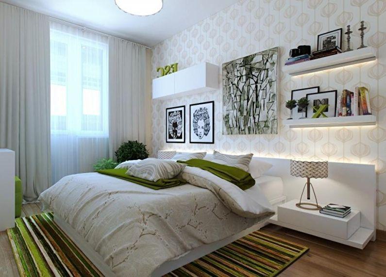 Conception d'une petite chambre dans un style moderne - photo