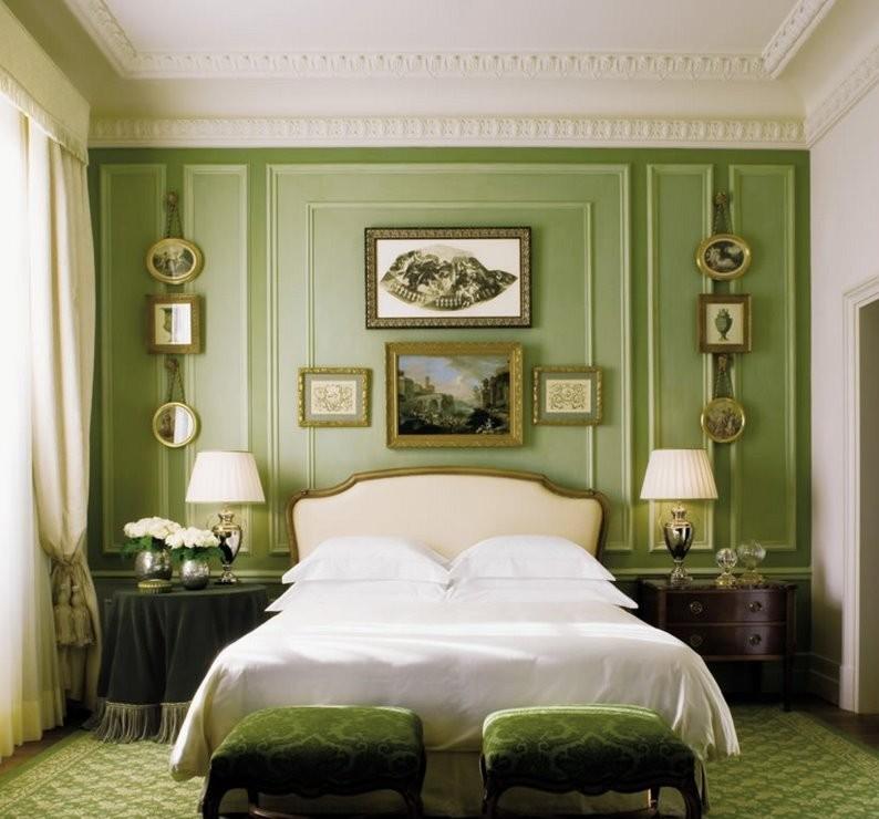 Conception d'une petite chambre dans un style classique - photo