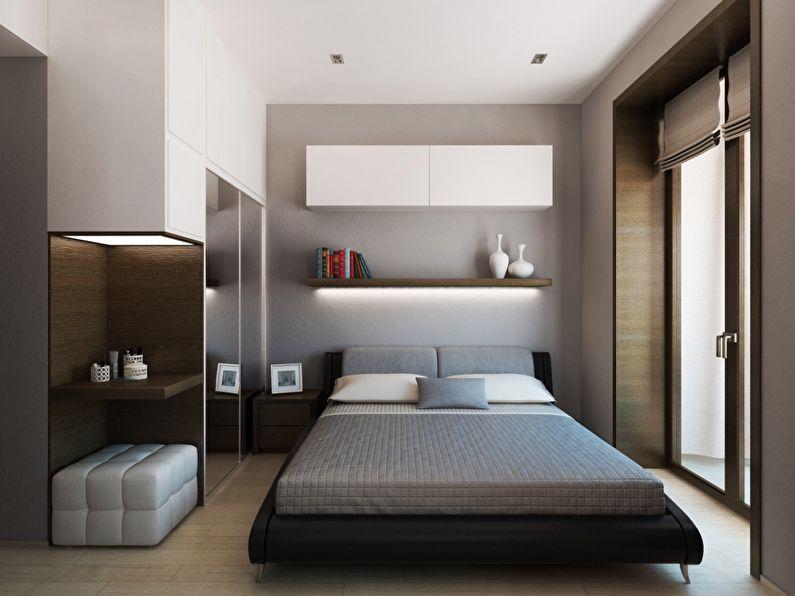 Conception d'une petite chambre dans le style du minimalisme - photo