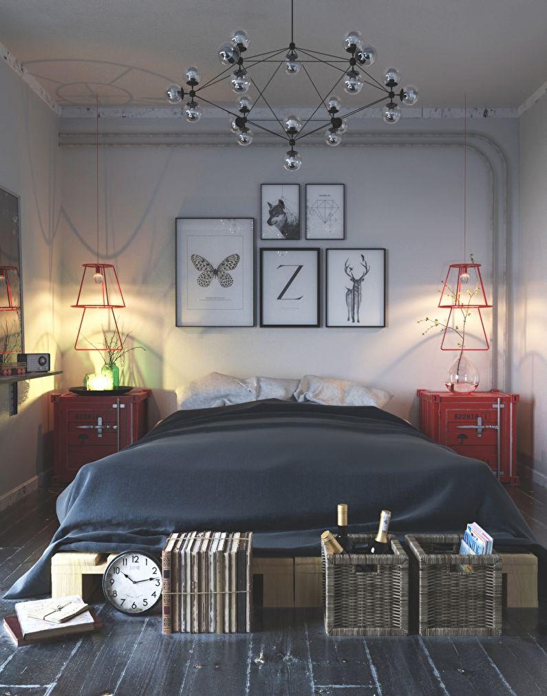 Design de petite chambre de style scandinave - photo