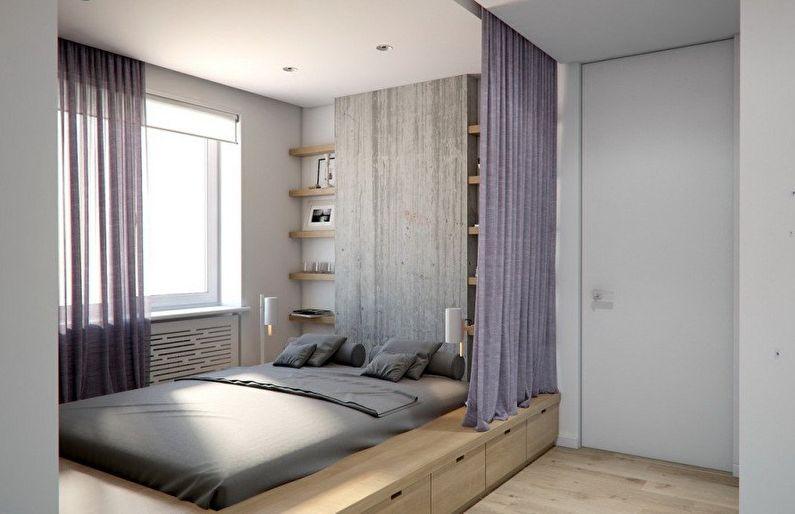 Design du sol dans une petite chambre - photo