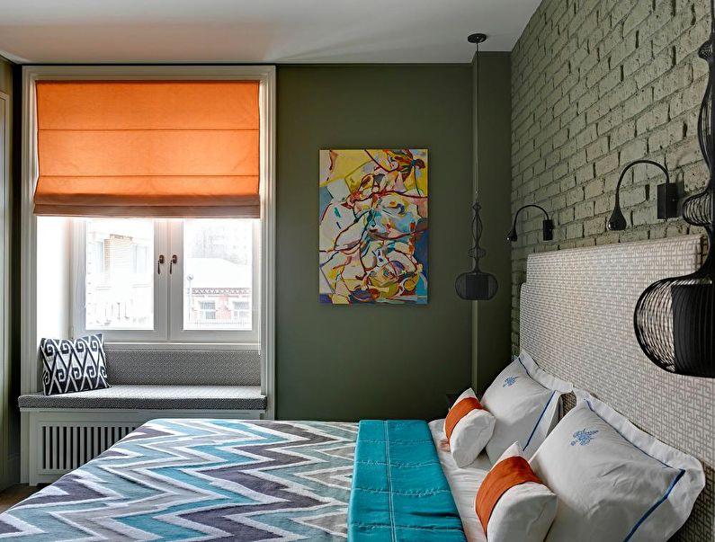Textiles pour une petite chambre - photo