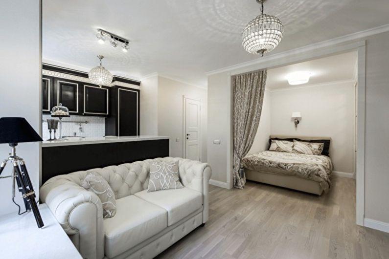 Combiner une petite chambre avec un salon - photo design