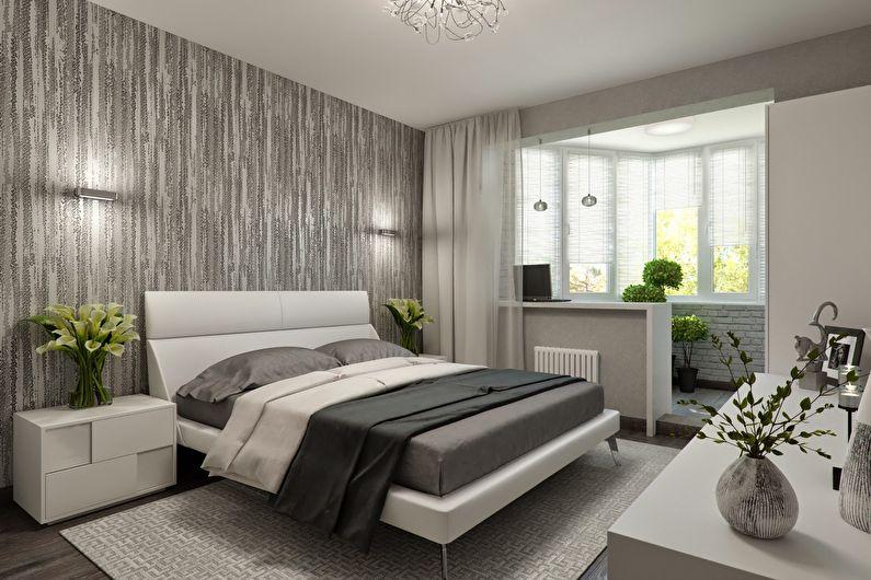 Combiner une petite chambre avec un balcon ou une loggia - photo design