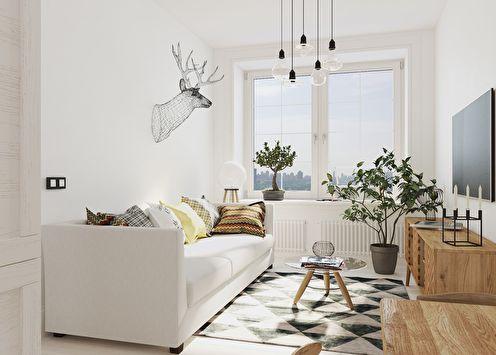Intérieur d'un petit appartement de 30 m2 de CubiqStudio