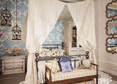 Conception de chambre de style provençal