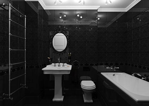 Salle de bain Valentino en noir