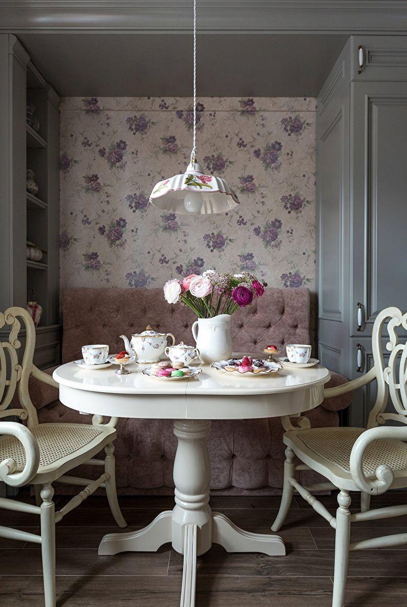 Couleur lilas à l'intérieur de la cuisine - Photo design