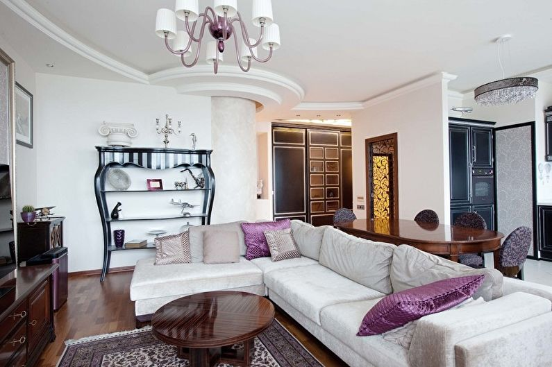 Couleur lilas à l'intérieur du salon - Photo design