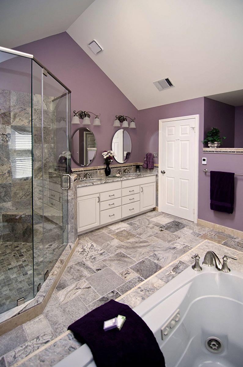 Couleur lilas à l'intérieur de la salle de bain - Photo design