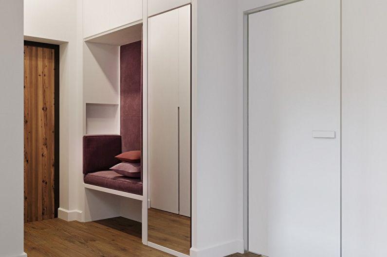 Couleur lilas à l'intérieur du couloir - Photo design
