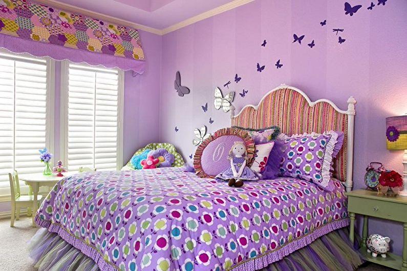 Couleur lilas à l'intérieur d'une chambre d'enfant - Photo design