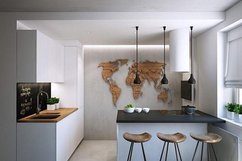 Cuisine 14 m2 dans un style moderne - Design d'intérieur