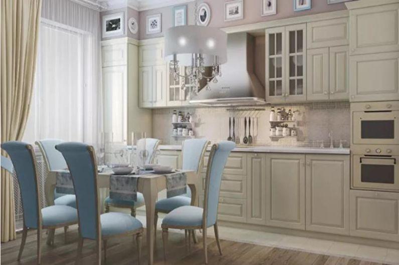 Cuisine 14 m2 dans un style classique - Design d'intérieur