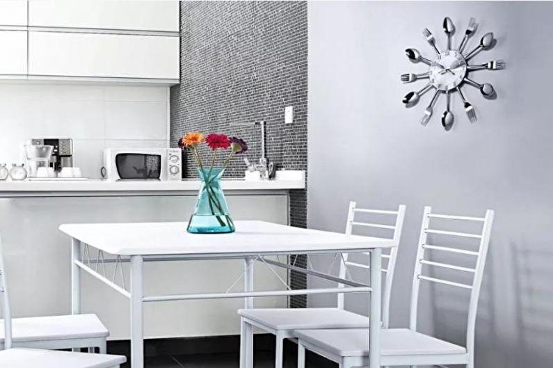 Cuisine 14 m2 dans un style high-tech - Design d'intérieur