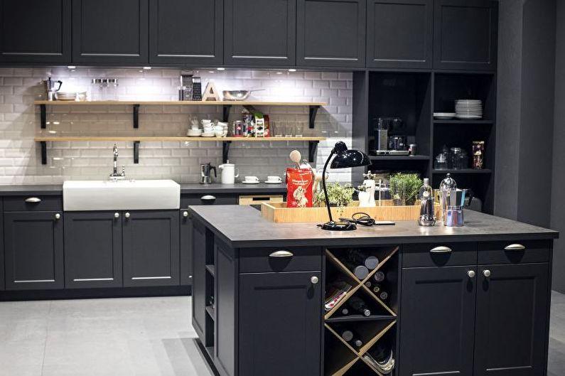 Cuisine grise 14 m2 - Design d'intérieur