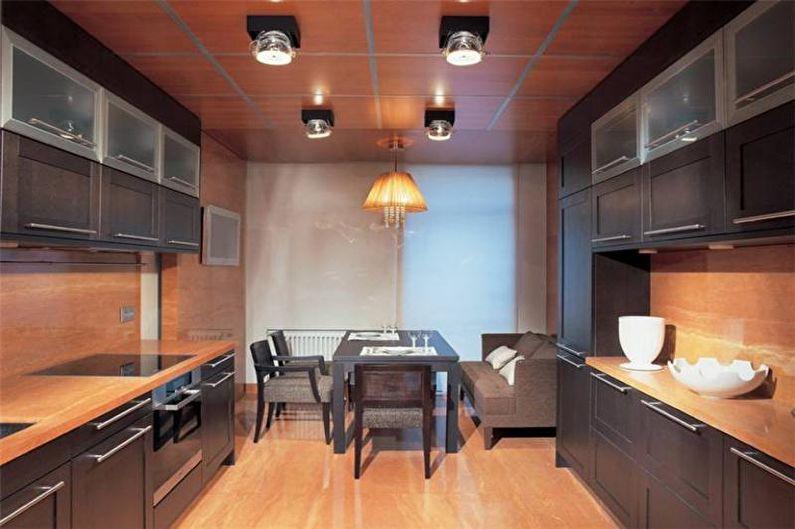 Cuisine marron 14 m2 - Design d'intérieur