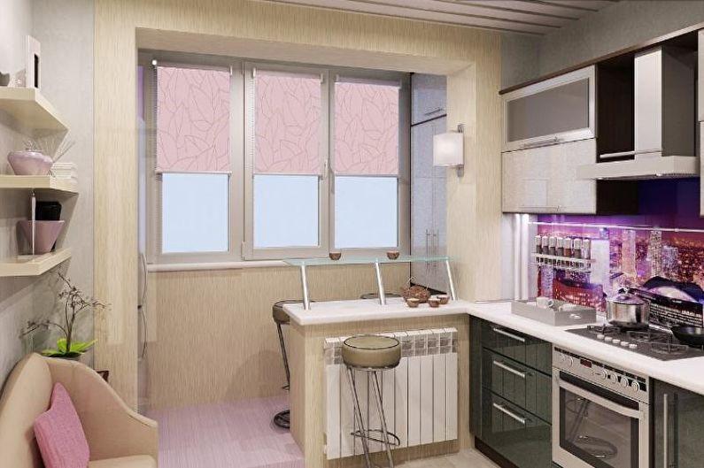 Conception de cuisine 14 m² - Décor et textiles