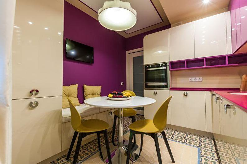 Le design intérieur de la cuisine est de 14 m². - photo