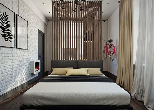 Projet de conception d'une chambre avec un lieu de travail