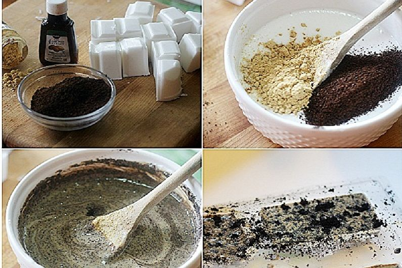 Comment faire du savon à la maison - Gommage au savon au café et au gingembre