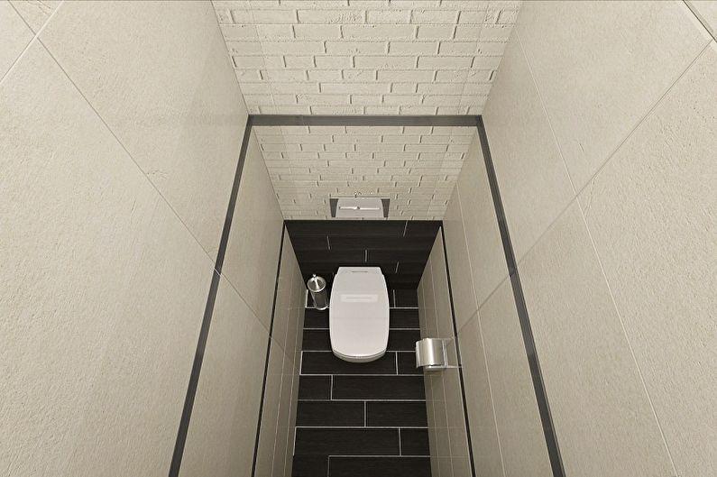 Toilettes de style minimalisme à Khrouchtchev - Design d'intérieur