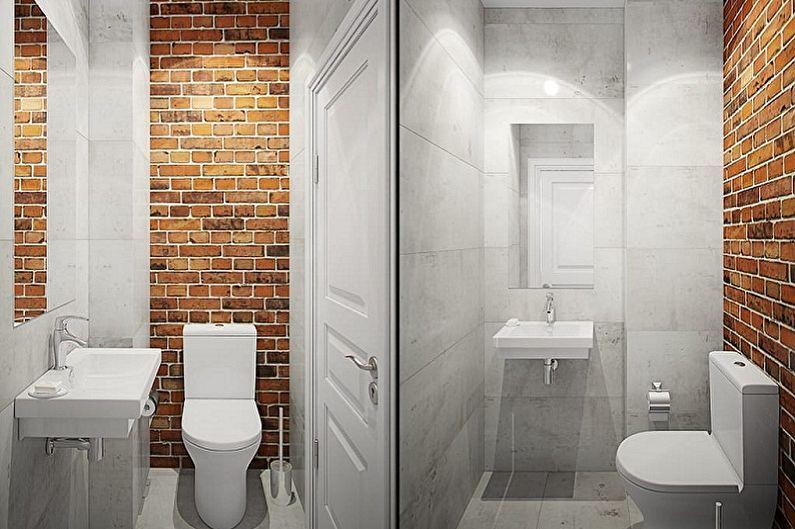 Toilettes à Khrouchtchev dans le style loft - Design d'intérieur