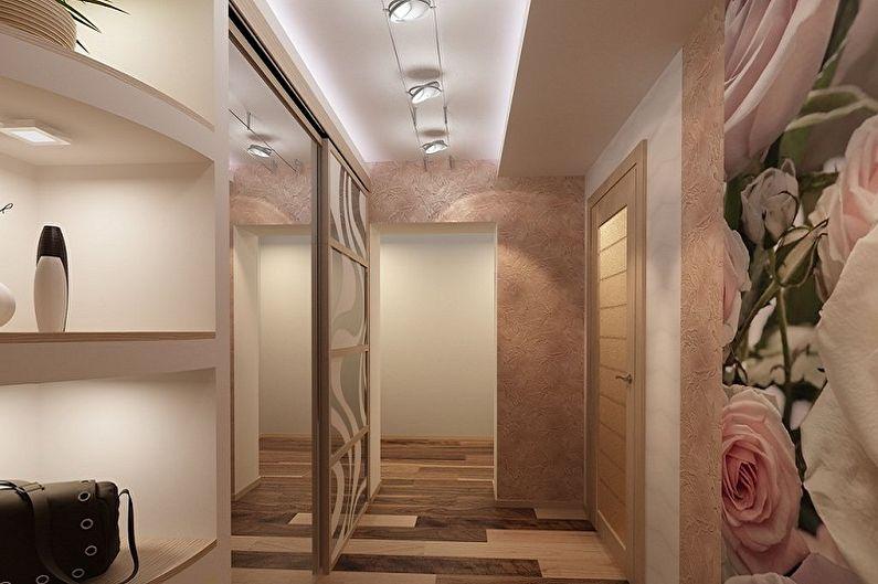 Conception de petit couloir - Finition de plafond