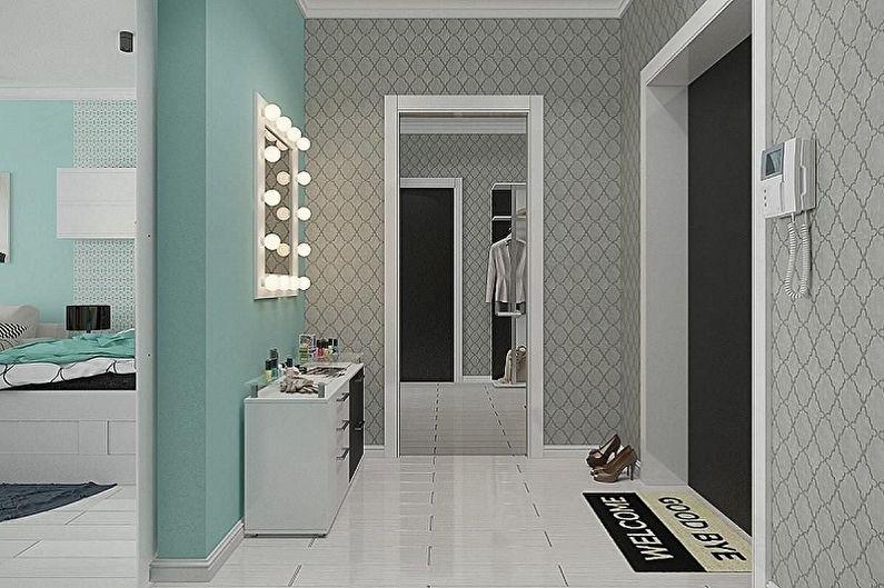 Conception de petits couloirs - Éclairage et décoration