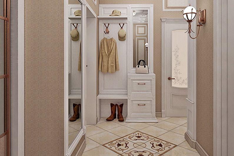 Petit couloir dans un style classique - Design d'intérieur